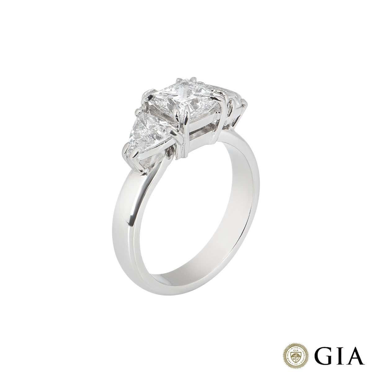 Princess Cut Platinum Diamond Ring 1.20ct D/VS2